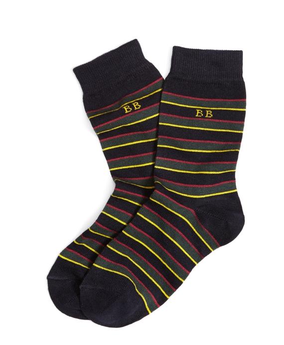 Argyle & Sutherland Stripe Socks Navy