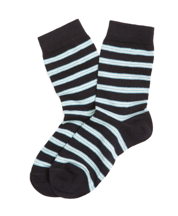 BB#1 Stripe Socks Navy