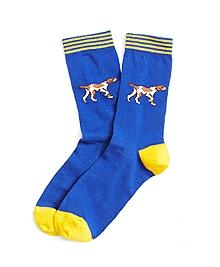 Hound Dog Print Socks