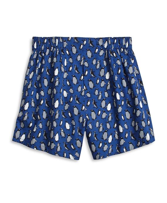 Penguin Print Boxers Blue