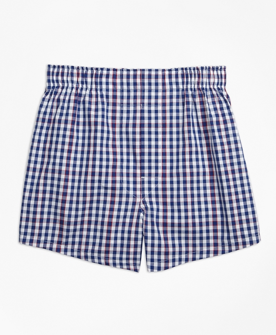 Gingham Boxers Navy
