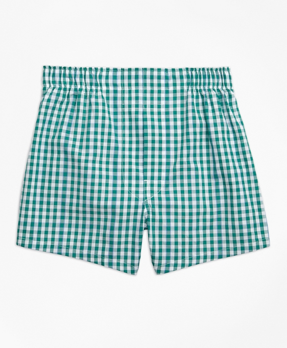 Gingham Boxers Dark Green