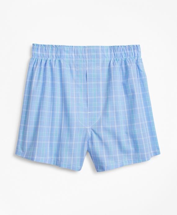 Plaid Boxers Blue