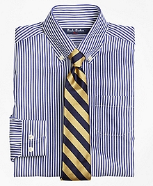 Non-Iron Supima® Cotton Broadcloth Bengal Stripe Dress Shirt