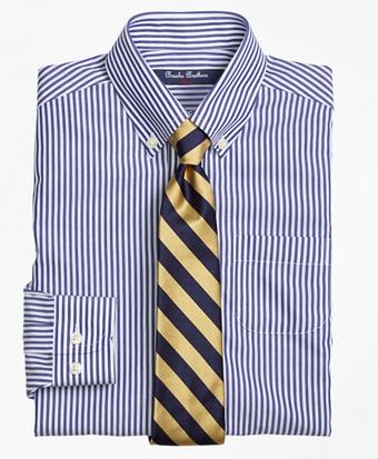 Non-Iron Supima® Cotton Broadcloth Bengal Stripe Dress Shirt