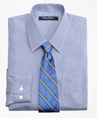 Non-Iron Supima® Cotton Broadcloth Houndstooth Dress Shirt