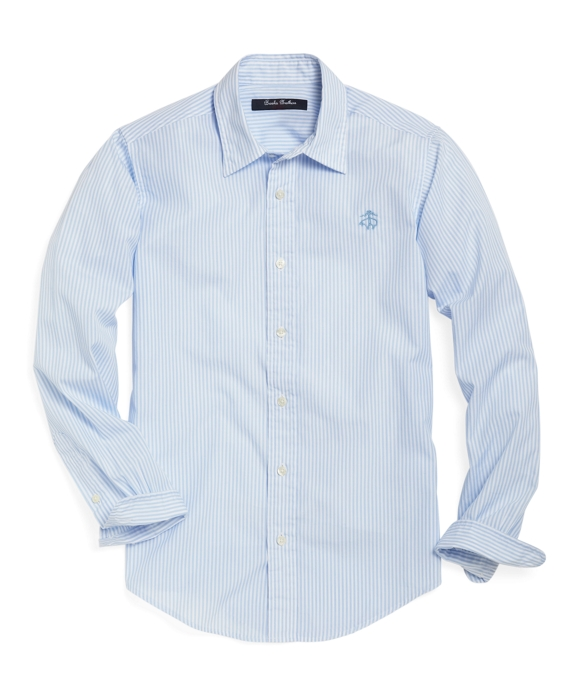 Club Stripe Sport Shirt Light Blue