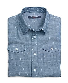 Chambray Anchor Sport Shirt