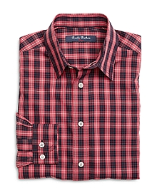 Non-Iron Small Check Sport Shirt
