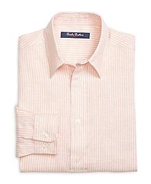 Linen Stripe Sport Shirt