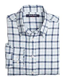 Linen Gingham Sport Shirt