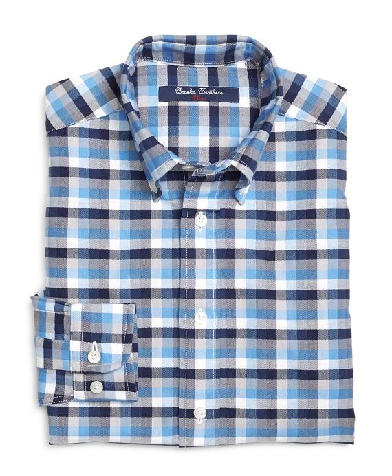 Multicheck Cotton Oxford Sport Shirt Blue