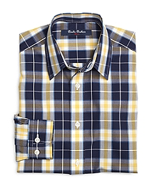 Non-Iron Checker Plaid Sport Shirt