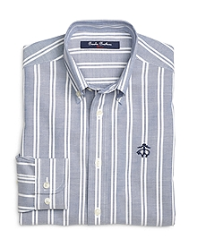 Non-Iron Stripe Basketweave Sport Shirt