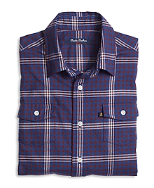 Flannel Micro Buffalo Check Sport Shirt