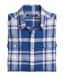 Flannel Tartan Sport Shirt