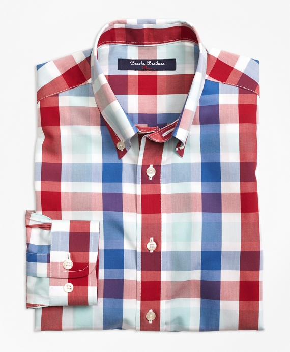 Non-Iron Multi Check Plaid Sport Shirt