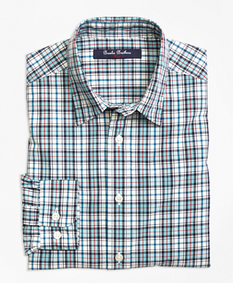 Cotton Multiplaid Sport Shirt