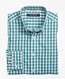 Non-Iron Windowpane Sport Shirt