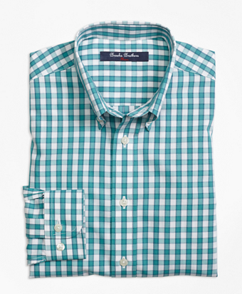 Non-Iron Windowpane Sport Shirt