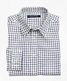 Irish Linen Mini Check Sport Shirt