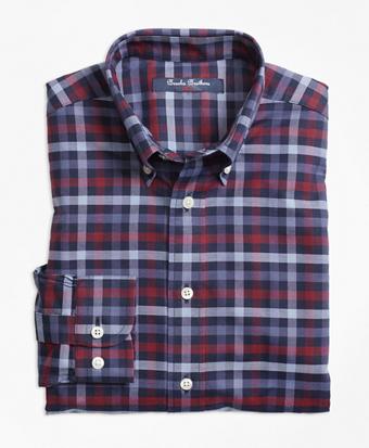 Non-Iron Supima® Cotton Multi Plaid Sport Shirt