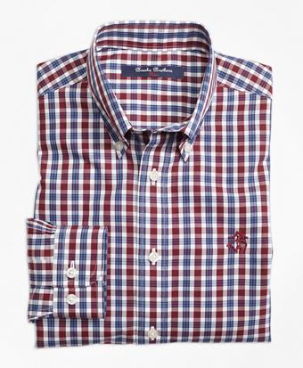 Non-Iron Mini Tartan Sport Shirt