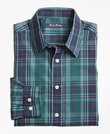 Non-Iron Plaid Sport Shirt