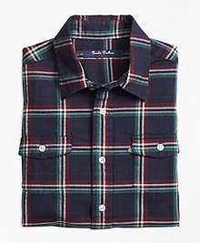 Holiday Plaid Flannel Sport Shirt