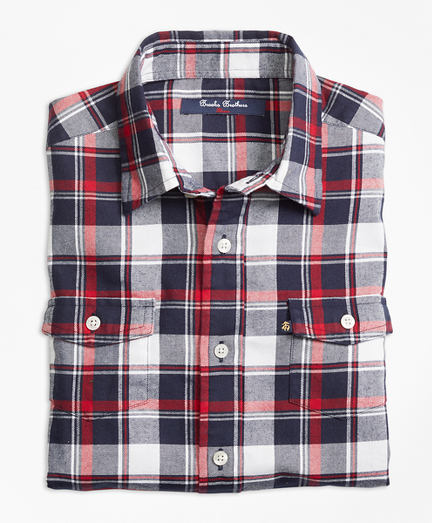 Winter Tartan Flannel Sport Shirt
