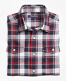 Winter Tartan Flannel Sport Shirt