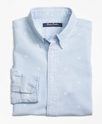 Novelty Snowflake Oxford Sport Shirt