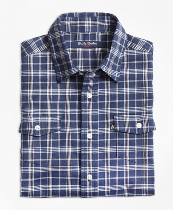 Classic Check Flannel Sport Shirt