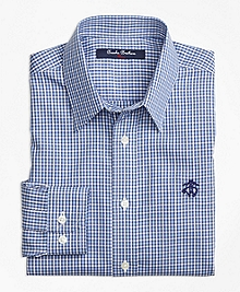 Non-Iron Mini Check Sport Shirt