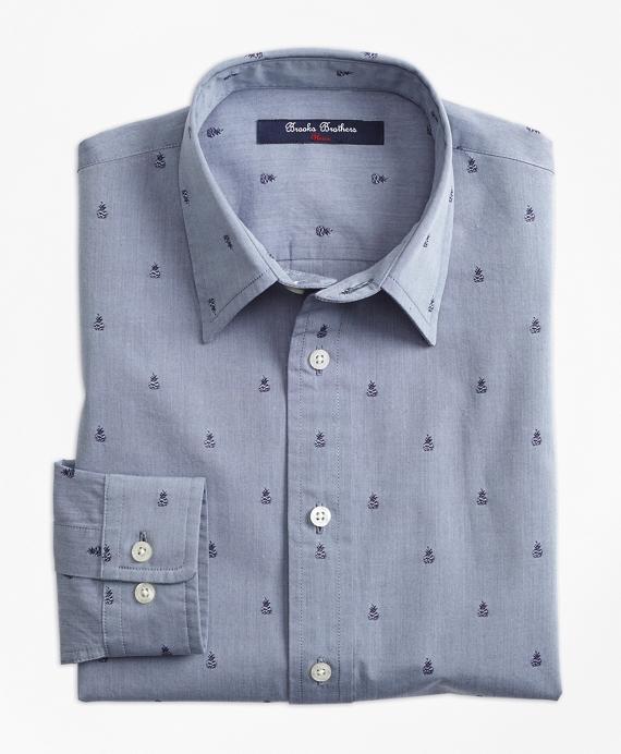 Cotton Dobby Sport Shirt Blue