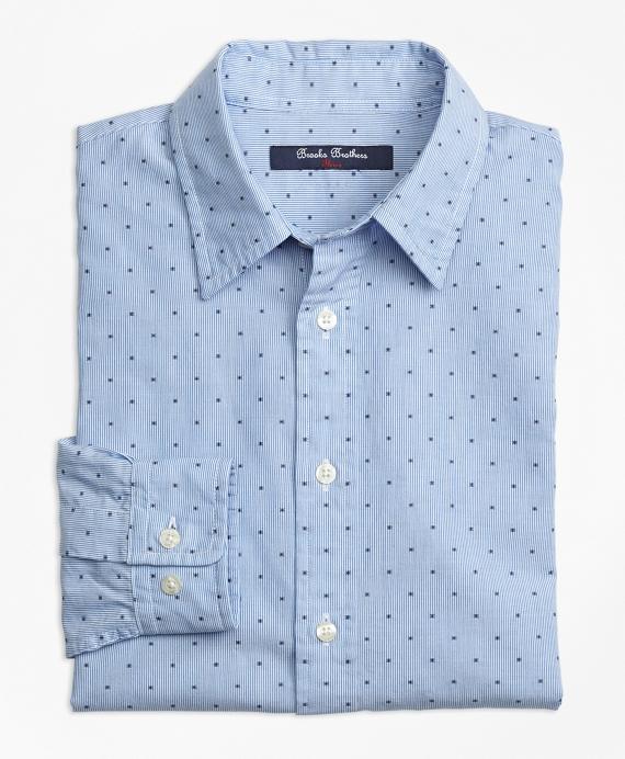 Striped Cotton Dobby Sport Shirt