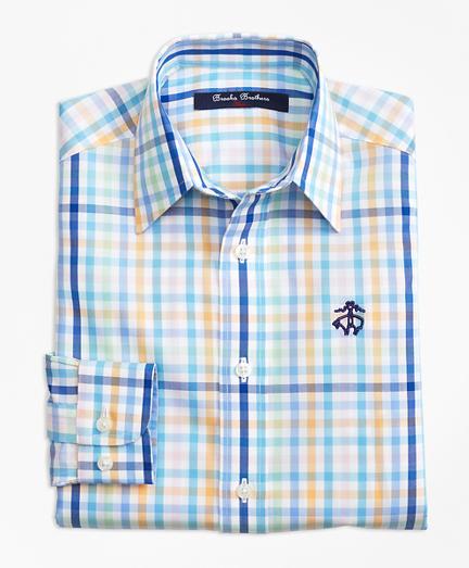 Non-Iron Multi Plaid Sport Shirt