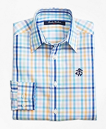 Non-Iron Multi Plaid Sport Shirt