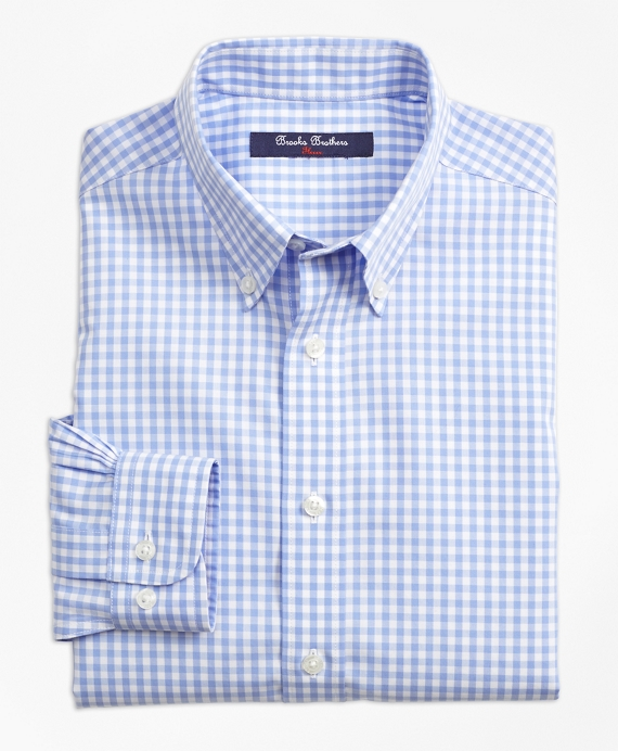 Non-Iron Gingham Sport Shirt