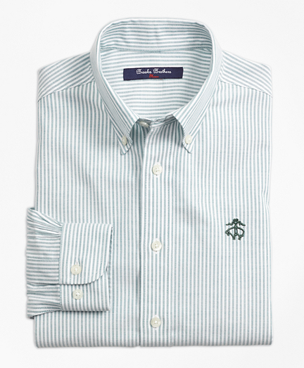 Non-Iron Club Stripe Sport Shirt