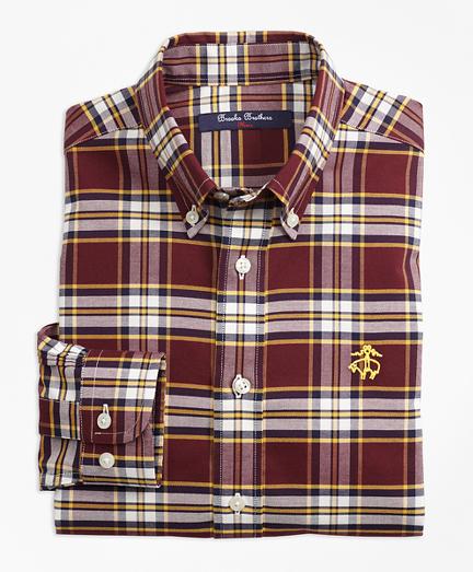 Non-Iron Supima® Cotton Large Plaid Sport Shirt