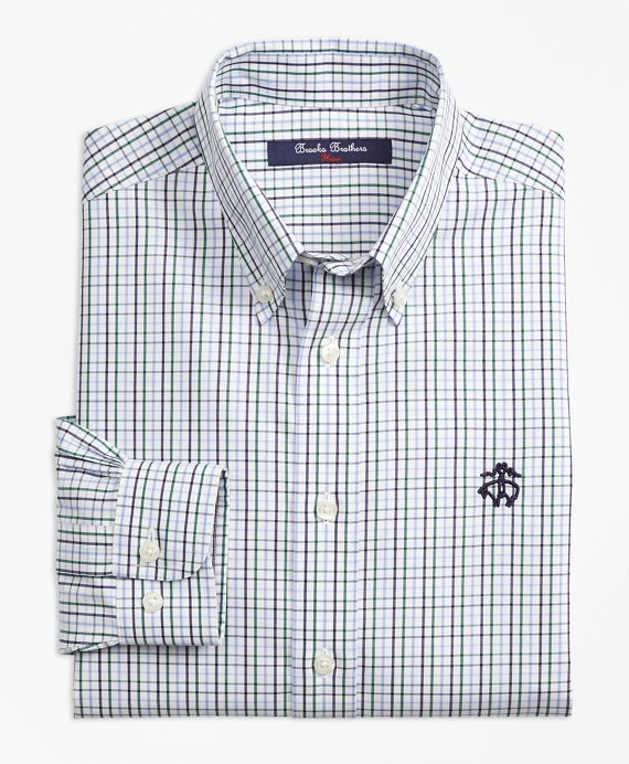 Non-Iron Windowpane Tattersall Sport Shirt