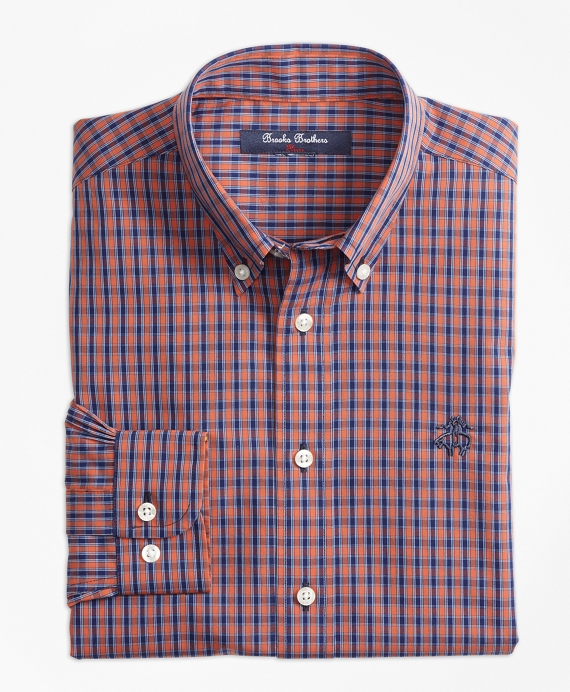 Non-Iron Mini Tattersall Sport Shirt