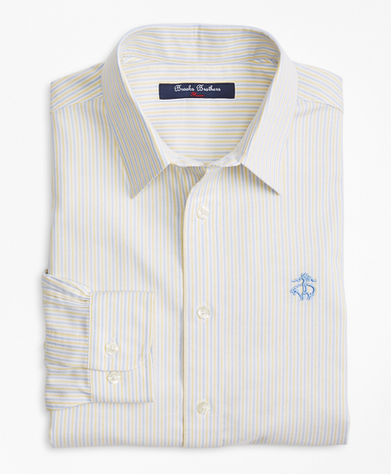 Non-Iron Supima® Cotton Oxford Alternating Stripe Sport Shirt