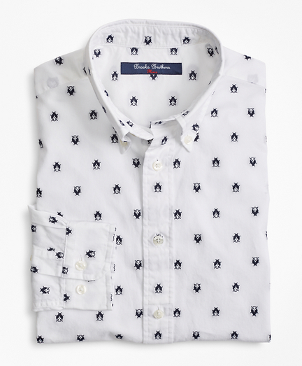 Cotton Bug Embroidered Sport Shirt