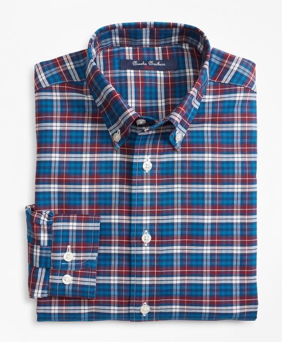 Non-Iron Plaid Sport Shirt Teal