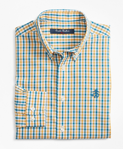 Non-Iron Multi-Color Gingham Sport Shirt