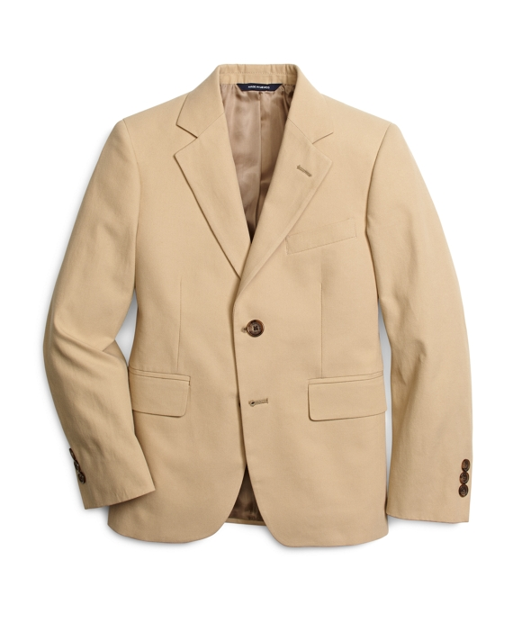 Khaki Cotton Twill Junior Suit Jacket Khaki
