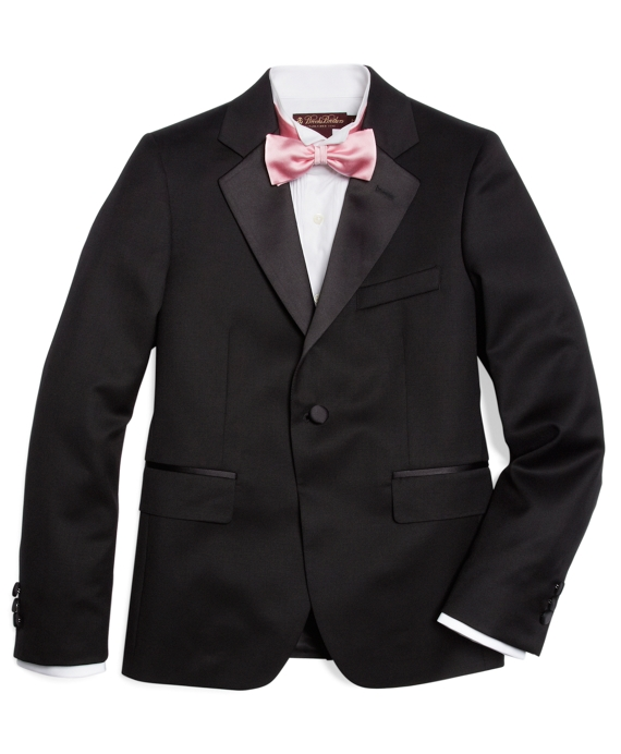 One-Button Tuxedo Prep Jacket Black