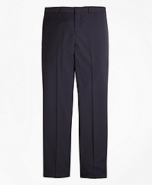 Wool Pinstripe Suit Trousers
